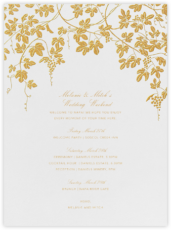 Vineyard I (Welcome Letter) - Gold | null