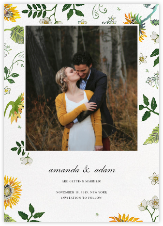 Dandelion Harvest (Photo Save the Date) | tall