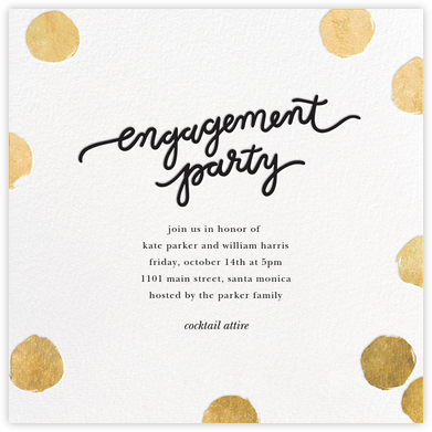 Big Dot Engagement - Gold - Sugar Paper - Showers and parties