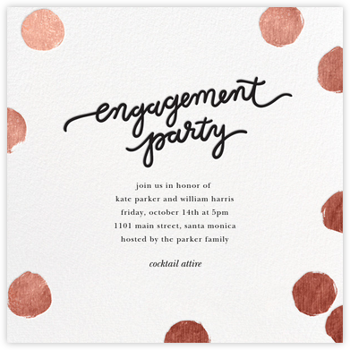 Big Dot Engagement - Rose Gold - Sugar Paper - Engagement party invitations