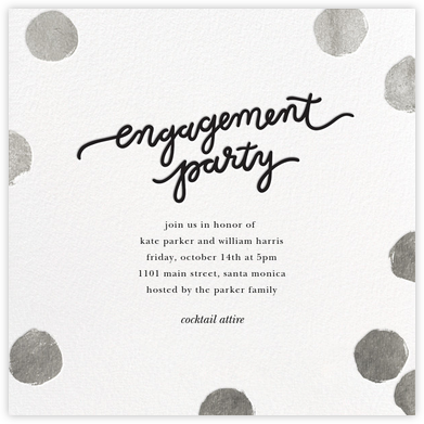 Big Dot Engagement - Silver - Sugar Paper - Engagement party invitations