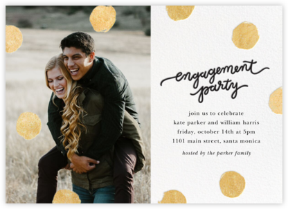 Big Dot Engagement (Photo) - Gold - Sugar Paper -