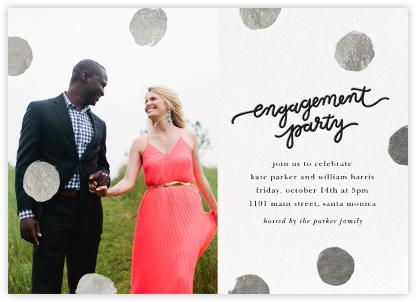 Big Dot Engagement (Photo) - Silver - Sugar Paper - Engagement party invitations