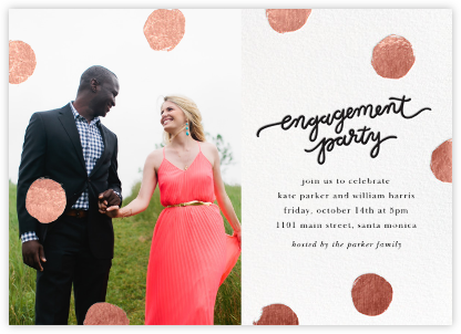 Big Dot Engagement (Photo) - Rose Gold - Sugar Paper - Showers and parties