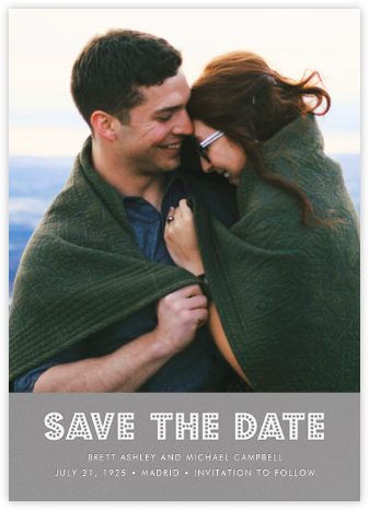 Love Marquee - Gray - Jonathan Adler - Photo save the dates