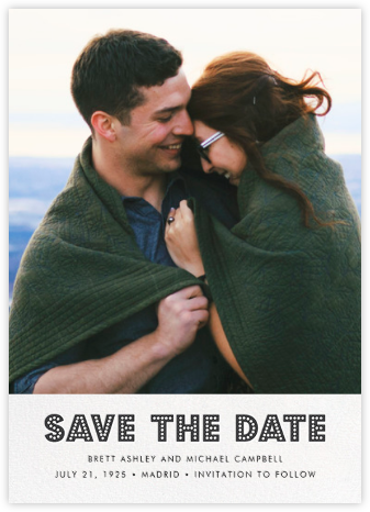 Love Marquee - White - Jonathan Adler - Save the date cards and templates