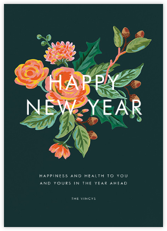 Jardin Noel (New Year Greeting) - Rifle Paper Co. - New Year Cards