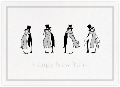 Penguins - Paperless Post - Holiday Cards