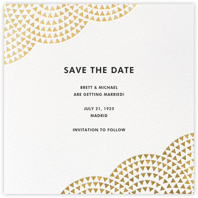 Savoy (Save the Date) - Gold - Paperless Post - Save the dates