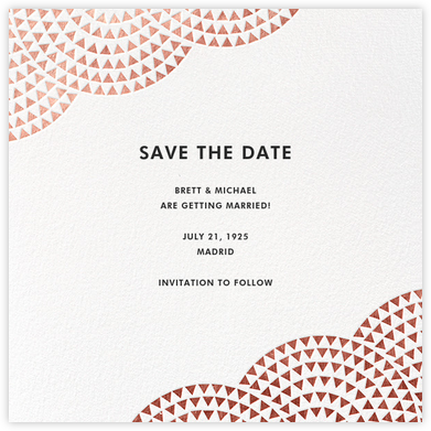 Savoy (Save the Date) - Rose Gold - Paperless Post -