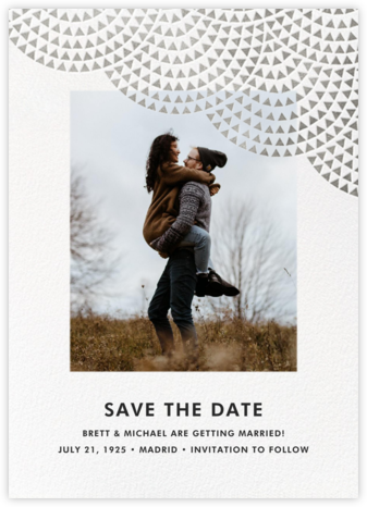 Savoy (Photo Save the Date) - Silver - Paperless Post - Photo save the dates