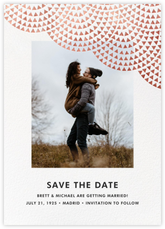 Savoy (Photo Save the Date) - Rose Gold - Paperless Post - Save the dates