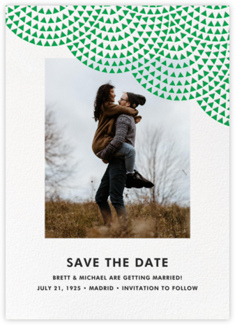 Savoy (Photo Save the Date) - Emerald - Paperless Post - Photo save the dates