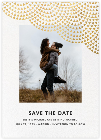 Savoy (Photo Save the Date) - Gold - Paperless Post - Save the dates