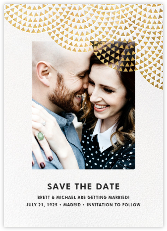 Savoy (Photo Save the Date) - Gold - Paperless Post -