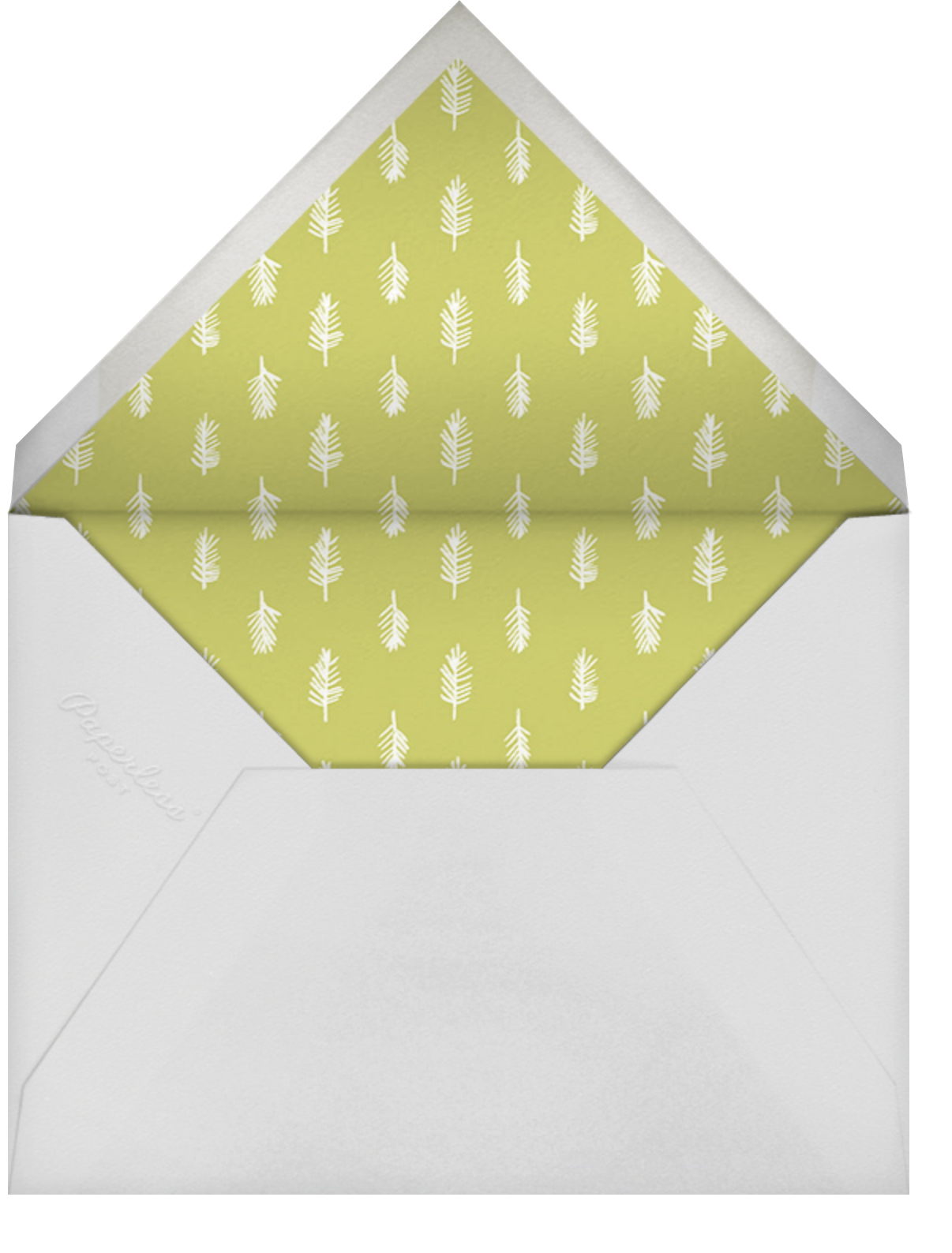 Four Photo Title Card - Ivory - Paperless Post - New Year - envelope back