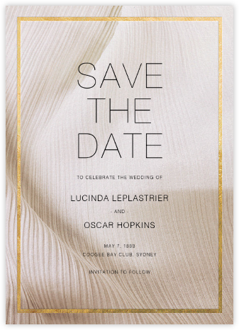 Chiffon - Gold - Paperless Post - Save the dates