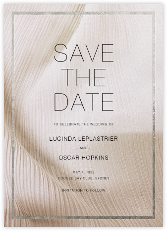 Chiffon - Silver - Paperless Post - Modern save the dates