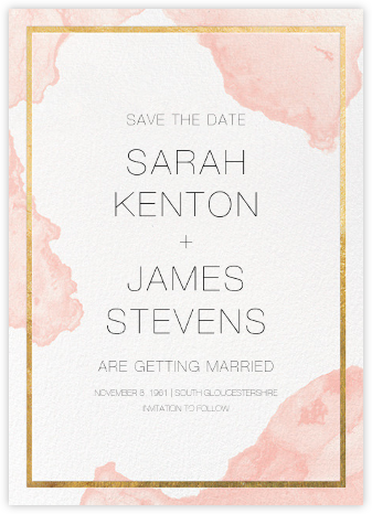 Cumulus - Pavlova/Gold - Paperless Post - Save the dates