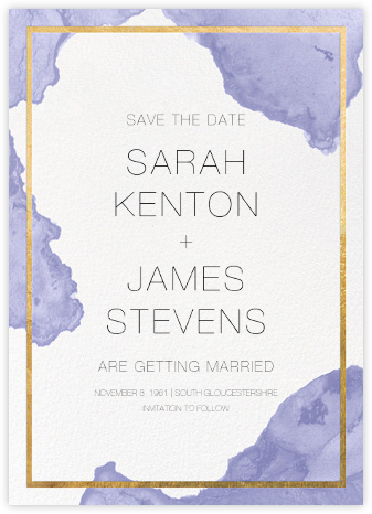 Cumulus - Iris/Gold - Paperless Post - Modern save the dates