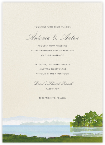 Bainbridge - Felix Doolittle - Destination wedding invitations