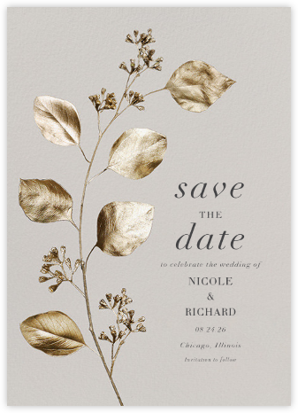 Duchêne - Paperless Post - Gold and metallic save the dates