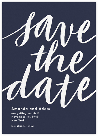 Evelina - Navy - Paperless Post - Modern save the dates