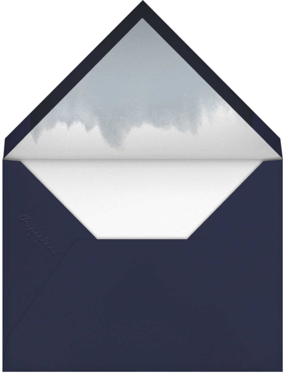 Evelina - Navy - Paperless Post - Party save the dates - envelope back