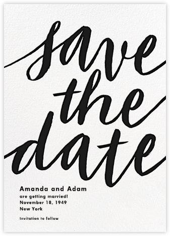 Evelina - White/Black - Paperless Post - Save the dates