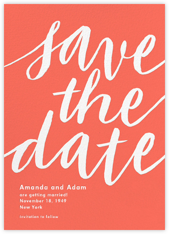 Evelina - Salmon - Paperless Post - Save the dates