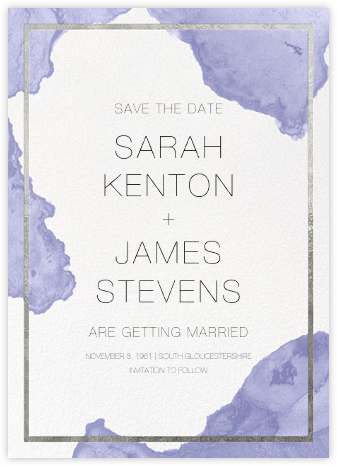Cumulus - Iris/Silver - Paperless Post - Modern save the dates