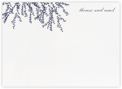 Forsythia (Stationery) - Navy - Paperless Post - Personalized Stationery