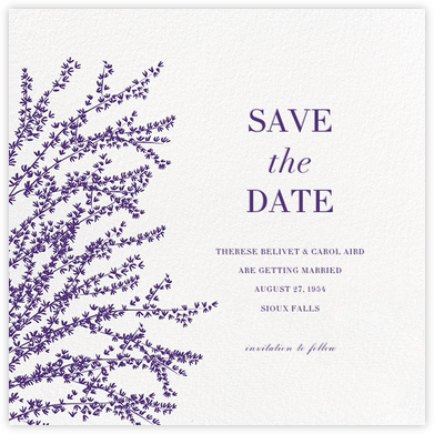 Forsythia (Save the Date) - Mulberry - Paperless Post - Save the dates