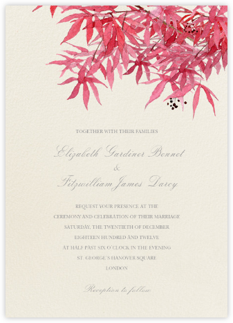 Japanese Maple - Felix Doolittle - Destination Wedding Invitations