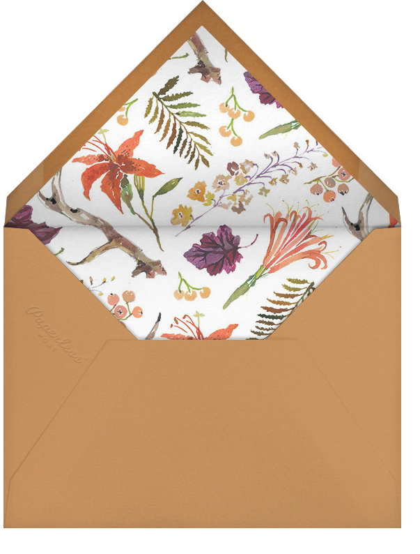 Autumn Harvest (Invitation) - Happy Menocal - All - envelope back