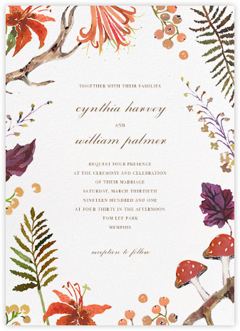 Autumn Harvest (Invitation) - Happy Menocal - Wedding Invitations
