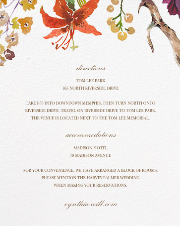 Autumn Harvest (Invitation) - Happy Menocal - All - insert front