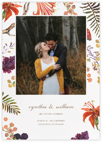 Autumn Harvest (Photo Save the Date) - Happy Menocal - Save the dates
