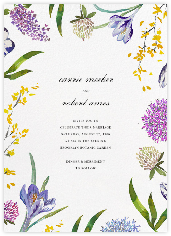 Spring Florets (Invitation) - Happy Menocal - Destination wedding invitations