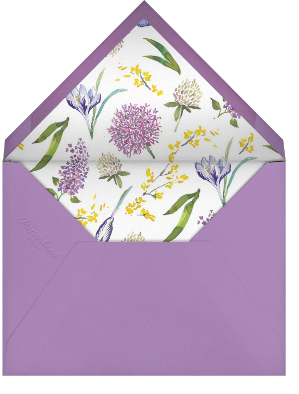 Spring Florets (Save the Date) - Happy Menocal - Save the date - envelope back