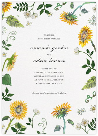 Dandelion Harvest (Invitation) - Happy Menocal - Summer entertaining invitations