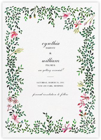Hedgerow in Bloom (Save the Date) - Happy Menocal - Save the date cards and templates