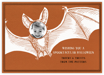 Halloween Bat - Paperless Post -