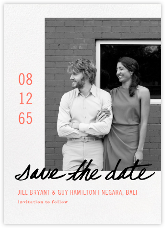 Tompion - Paperless Post - Modern save the dates