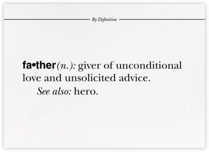 Father By Definition - Paperless Post - Father's Day cards