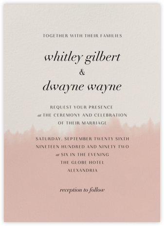 Dip Dye - Antique Pink - Paperless Post - Wedding invitations
