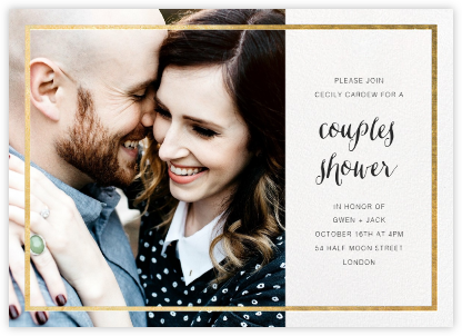 Idylle (Photo) - White/Gold - Paperless Post - Bridal shower invitations