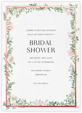 Bridal shower invitations online at paperless post lautaret rose gold stopboris Choice Image