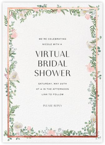 Lautaret - Rose Gold - Paperless Post - Online Party Invitations