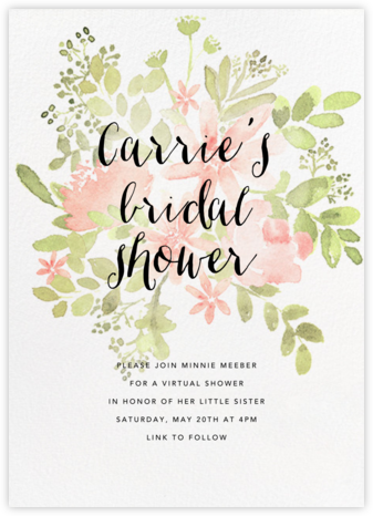 Pressed Blossoms - Pink - Paperless Post - Bridal shower invitations